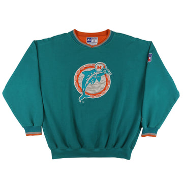 1990s Starter Miami Dolphins Pique Cotton V Neck Sweatshirt XL