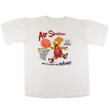 1990s Bart Air Simpson It Is The Shoes Bootleg T-Shirt XL