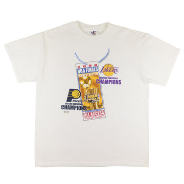 2000 Los Angeles Lakers vs Indiana Pacers NBA Finals All Access T-Shirt L