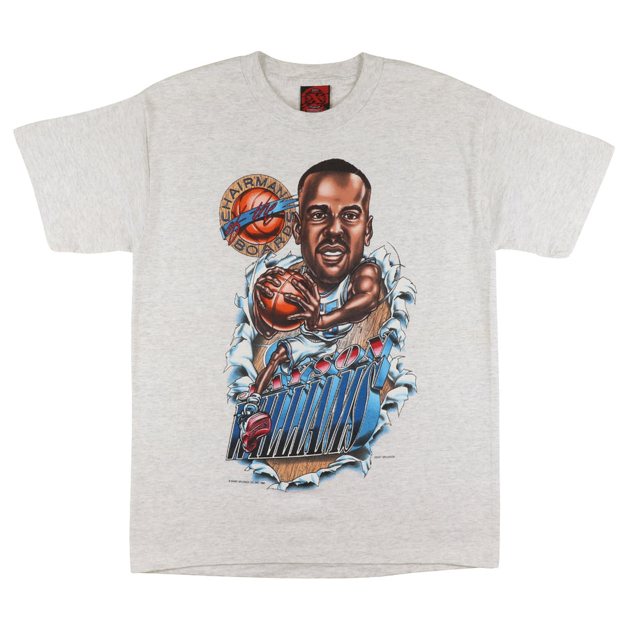 1995 New Jersey Nets Jayson Williams Chairman Of The Boards Big Head T-Shirt M