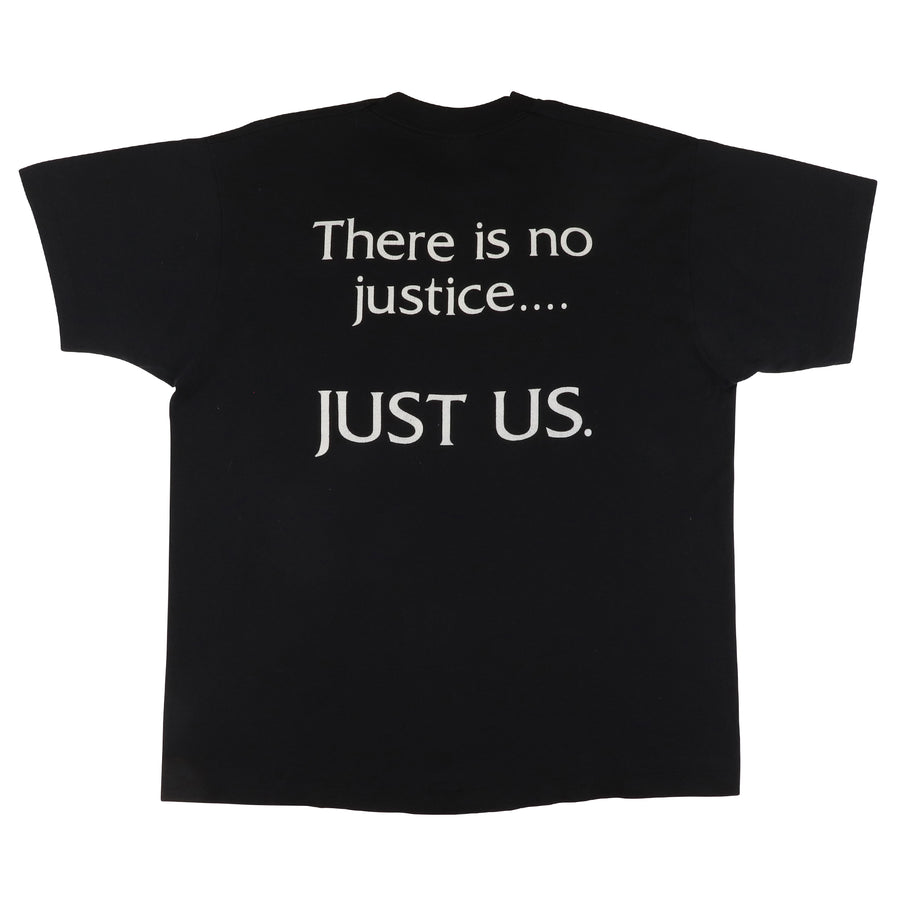 1990s Rodney King There Is No Justice T-Shirt XL