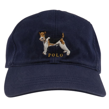 1990s Polo Sport Ralph Lauren Embroidered Terrier Dog Strapback Hat