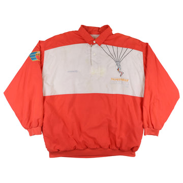 1980s Adidas Aerosports Thunderbolt Chuters Collared Sweatshirt XL