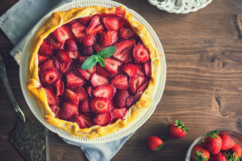 Biscuit & Strawberry Cheesecake Recipe