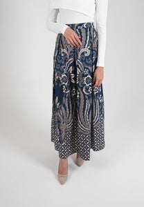 [CLEARANCE] Cendrawaseh Maxi Skirt - Blue