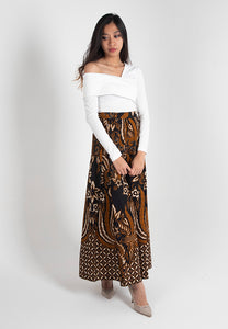 [CLEARANCE] Cendrawaseh Maxi Skirt - Black