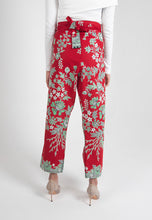 Load image into Gallery viewer, Crop Wrap Pants in Nyonya - Red