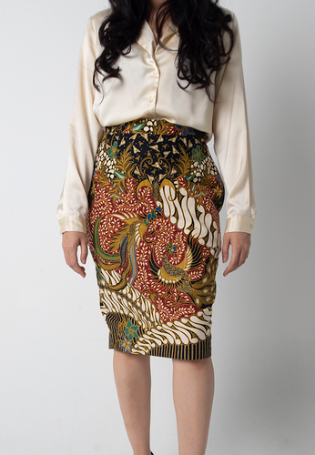 [CLEARANCE] Garuda Pencil Skirt - Black