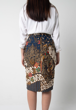 Load image into Gallery viewer, Garuda Pencil Skirt - Blue (PROMO)