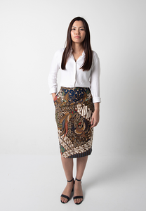 Garuda Pencil Skirt - Blue (PROMO)