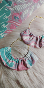 Ruffled Hoop Earrings