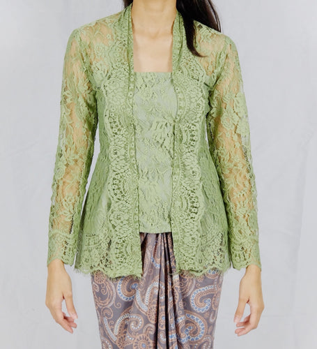 Kebaya lace - Dusty green