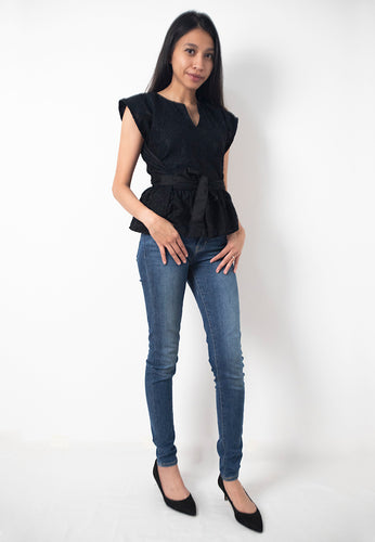 Lace viniePeplum - Black