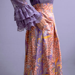 High waisted maxi skirt - Rapunzel