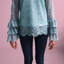 Load image into Gallery viewer, Lace ruffled blouse - Jasmine (PROMO)