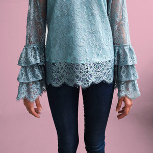 Lace ruffled blouse - Jasmine (PROMO)
