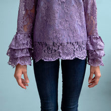Load image into Gallery viewer, Lace ruffled blouse - Rapunzel