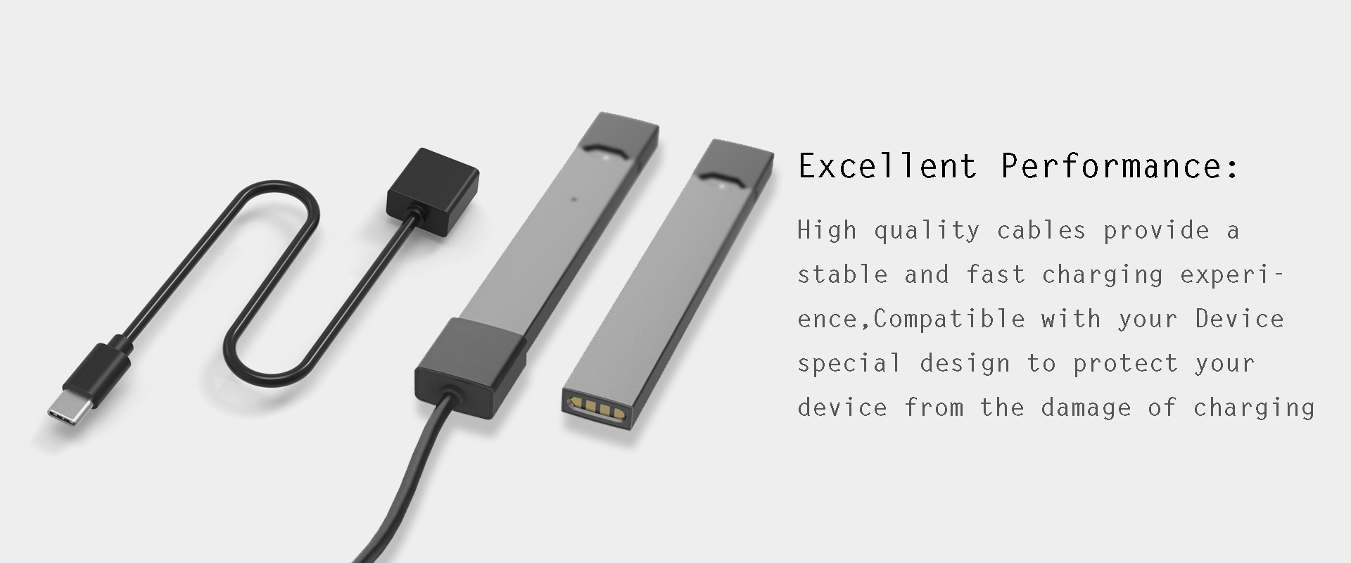 JUUL Magnetic Fast Charging Cable Compatible All Type-C Port Devices with 1 Washable JUUL Holder