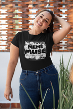 Load image into Gallery viewer, Meme Muse Black Shirt