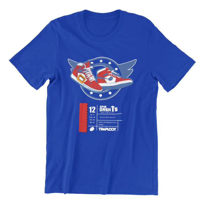 Spin Dash 1's Royal Blue Shirt