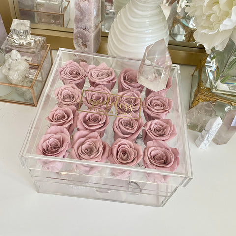 Goddess Acrylic Eternal Rose Jewelry Box