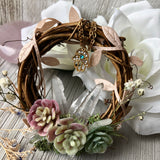 Mini Crystal Wreath