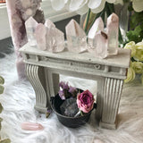 Miniature fireplace mantle