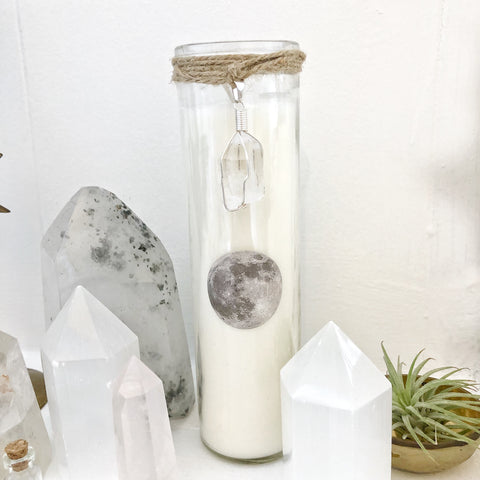 Spiritual Luna Prayer Candle