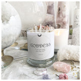 Goddess Crystal Candle
