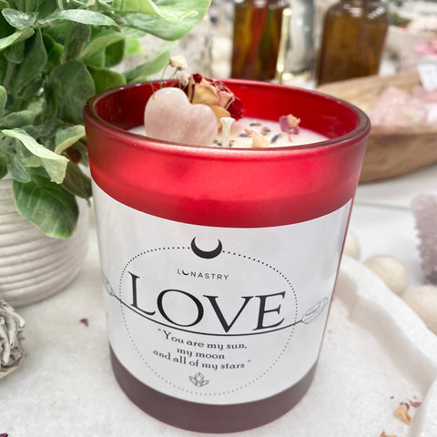 Valentine soy wax candle