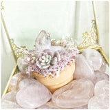 Rose Quartz Puffy Heart Crystal Stone