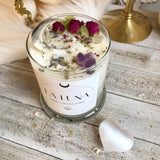 La Luna Candle with Mystery hidden crystal inside