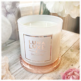 Luxurious Luna Luxe soy wax candle  with hidden crystal