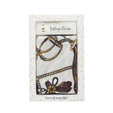 Twos Company Vintage Charm Scarf with Gold Ring -Set of 2 (Ivory, Mocha)