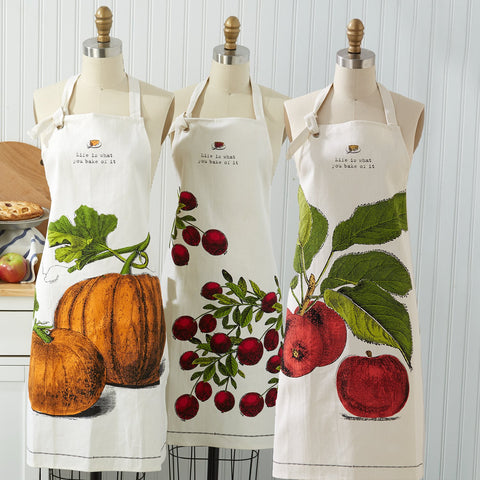 Twos Company Apron In Pie Dish Pumpkin