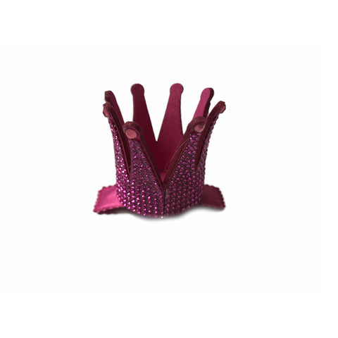 Barri Lynn Hot Pink Crown Clip with Swarovski Crystals