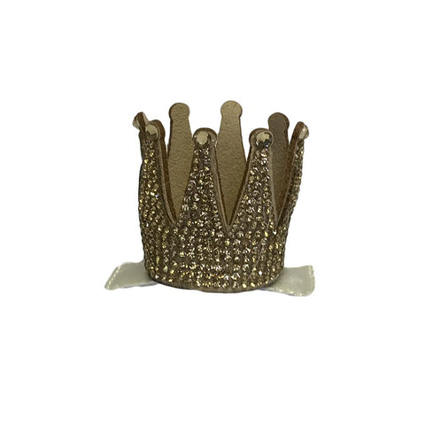 Barri Lynn Gold Crown Clip with Swarovski Crystals