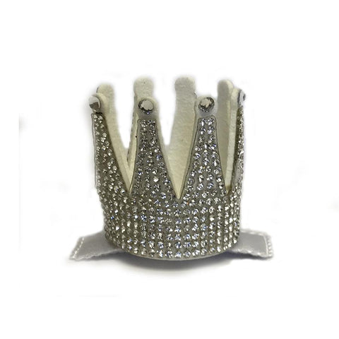 Barri Lynn Silver Crown Clip with Swarovski Crystals