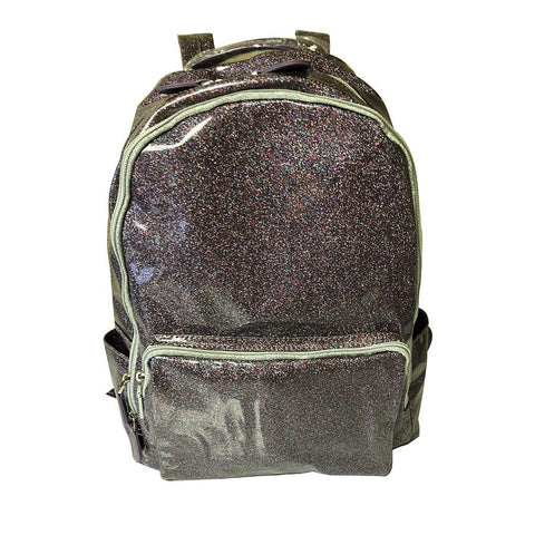 Bari Lynn Purple Soft Glitter Backpack