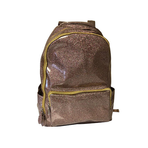 Bari Lynn Gold Soft Glitter Backpack