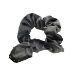 Bari Lynn Crystalized Velvet Hair Scrunchie Grey