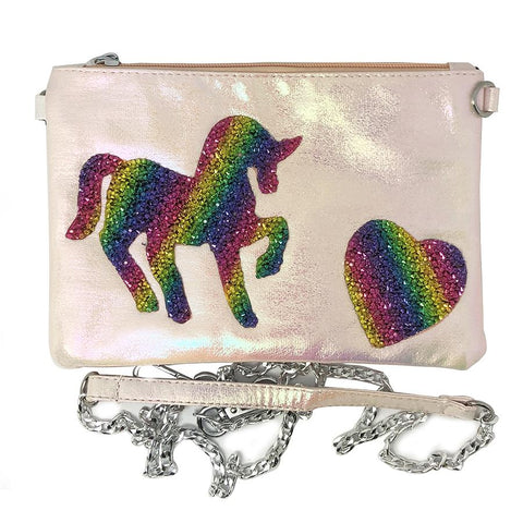 Bari Lynn Girls Unicorn Crossbody Galaxy Pouch