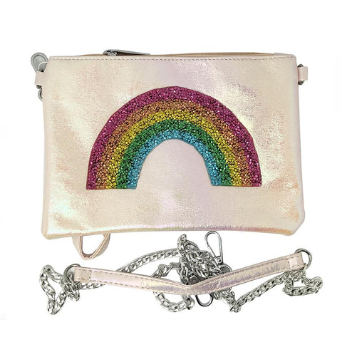 Bari Lynn Girls Rainbow Crossbody Galaxy Pouch
