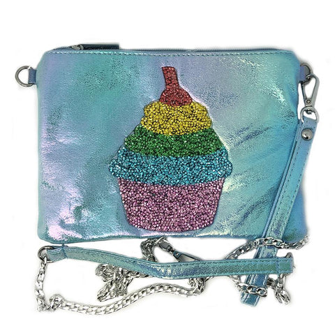 Bari Lynn Girls Cupcake Crossbody Galaxy Pouch