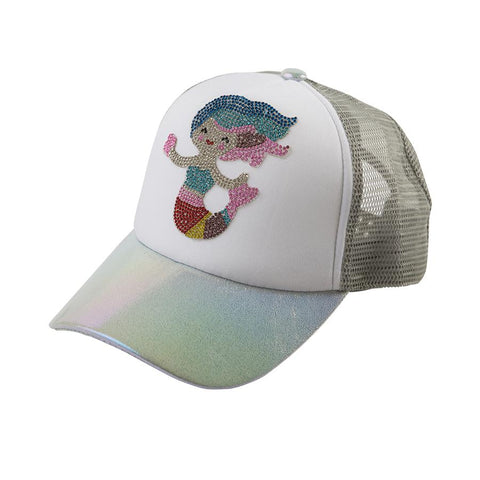 Bari Lynn Swarovski Mermaid Emoji Trucker Hats