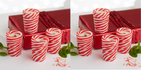 Twos Company Peppermint Shot Glasses Set of 8