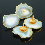 Twos Company Genuine Agate Drawer Pulls Set of 2