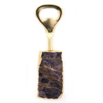Twos Company Ametista Do Sul Bottle Openers With Gold Leaf - Amethyst
