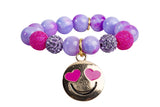 Heart Me Accessories Honolulu Honey Bracelet Hot Pink Emoji Charm