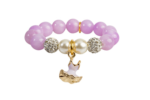 Heart Me Accessories Wisteria Bracelet Purple Tutu Charm